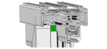 Üst Yalıtım Takozu interlock profillerinin üzerine takılarak düşey yönde oluşan izolasyon zafiyeti engellenmektedir.