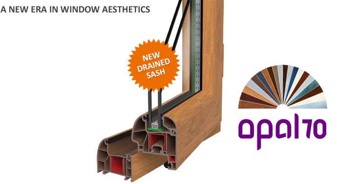 Opal 70 Series PVC Windows