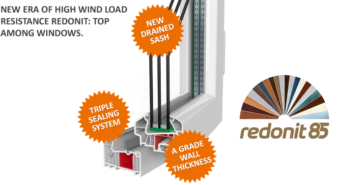 Redonit 85 Series PVC Windows